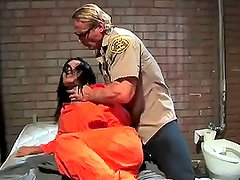 Insanely hot Prison Inmate Gets Fucked By A Very Horny Officer