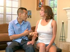 Hungry for cock mom seduces Asian guy
