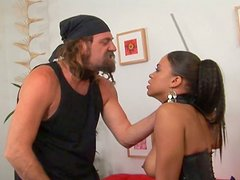 Mulatto kitty Chyanne Jacobs drilled by white rocker