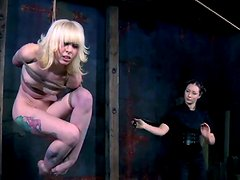 Creative bondage for disgraceful blondie Sarah Jane Ceylon