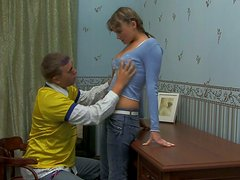 Torrid ugly chick Argentina gives a stout blowjob at home