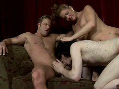 Bisexual Deviant Kade licks puss and gets his anus fucked