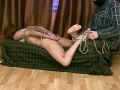 Helen is a nympho who's mad about bondage and tough fuck