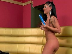 Backstage view video showing Jasmine Rouge and Honey Demon having passionate lesbian sex