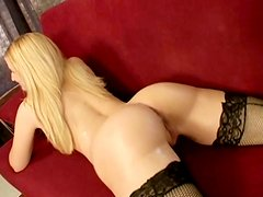 Tasty blonde Ariel Summers from Europe shows off her sexy lingerie