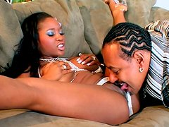 Black hooker Lori Alexia gives a splendid unforgettable and solid blowjob