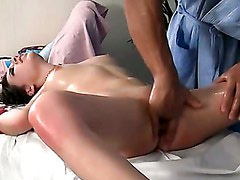 Hardcore massage vid with amazing brunette girl