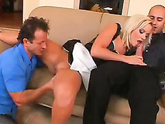 Blonde Whore Cindy Dollar Blows A Cock While Getting Her Cookie Eaten