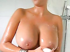 Carly Parker Takes A Shower After Recieving A Hot Jizz On Her Mouth
