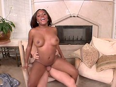 Ebony chick Candice Nicole invites white cock inside her pussy