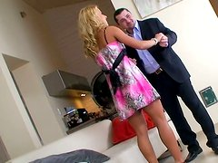 Nikky Thorne getting her body fondled. Behind the scene video