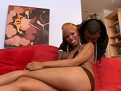 Whorish homely black chick Poison Ivy wants to suck a cock