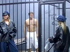 Voracious sexy cops please a stiff and hot dick right in the prison cell