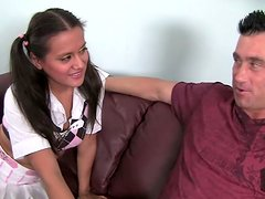 Sweet pig tailed girl Selma Sims gets fucked by Billy Glide