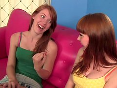 Red heads Marie McCray & Pepper Kester eat each other's pussies