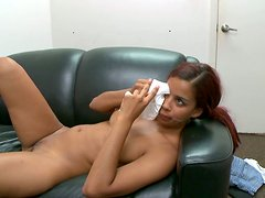 Dirty whore Julissa James gets poked hard and later gets a facial cumshot