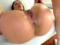 Super hot Cuban babe Luna Star rides dick and fucks mish for a creampie