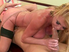 Ugly mature prostitute Taylor Wane gets nailed by young cock