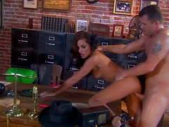 Horny secretary Kirsten Price gets poked mish right in the typography office