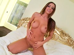 Busty and bright brunette Abigail Mac is a professional kinky wanker
