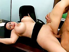 Big Breasted Daphne Rosen Gets Her Pussy Screwed Deep In The Office