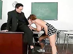 Naughty Emily George Blows Her Teachers Hardrock Meat Pole