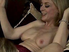 Lesbian Lover Nina Hartley Takes It Hot And Fierce On Bed With Her Girlfriend