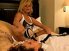 Hot Whores Ginger And Nica Heat Up Together In Bed For One Teasing Action