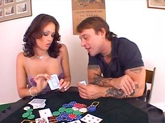 Poker slut Tory Lane gets dirty 69 style fucked