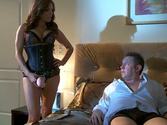 Curvy blonde strumpet Francesca Le fucks her beloved husband