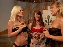 Three sexy bitches Nikki Rhodes, Mia Presley and Brandi Edwards take the party into a new level