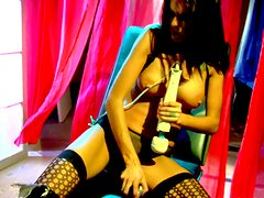 Horny brunette Sea J Raw playing hard with toys