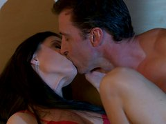 Sexy brunette MILF India Summer hard 69 style workout