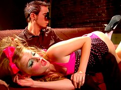 Horny red haired doll Faye Reagan gets a delicious dick