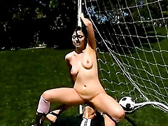 Sexy Babe Franchezca Valentina Humps Her Pussy On A Big Dick Outdoors