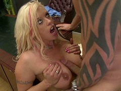 Fluffy blonde hooker Brittney Skye gets nailed by boss's huge dick
