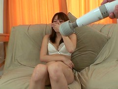 Aika Nakano gets completely naked while playing with vibrator