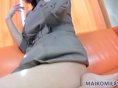 Yoko Kido moans so intensely when vibrator touches her pussy