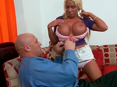 Blondie Jordan Pryce is a busty cock hungry whore