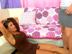 Delicious bitch Teri Weigel in sexy dress gets her pussy fingered