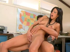 Tough fuck in the office with pretty Breanne Benson