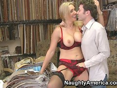 Medias - Busted old slut Tanya Tate fucking her boss in the office and giving a hot blowjob