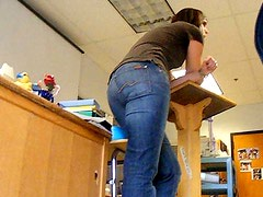 High School English Teacher Candid Jeans Ass