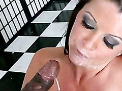 Submissive Momma Raquel Devine Gets Her Mouth Creamed The Way She Liked It