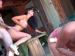 Kendall Karson & Ava Cox hot big ass blonde and brunette fucking POV doggystyle and riding cocks.