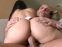 Chubby assed Valerie Kay doggyfucked hardly and swallowed all the cum