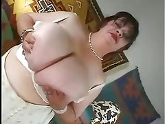 Granny with huge massive giant boobs