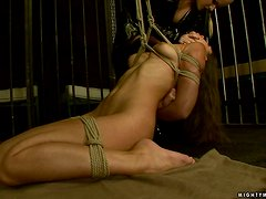 Zafira moans loudly while getting her pussy fisted hard