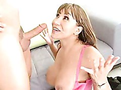 Cum lover Ava Devine receives her favorite reward after a nice horny fuck