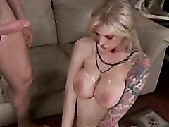 Whore Brooke Biggs loves getting those jugs sprayed with jizz after a nice bang
